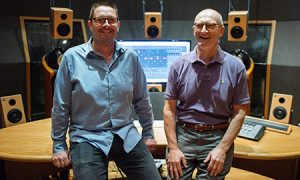 Richard King and Wieslaw Woczcyk in one of McGill's sound recording labs